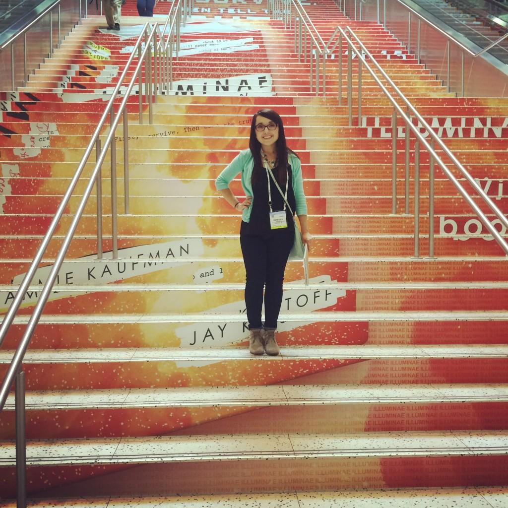 Me on the striking Illuminae steps!